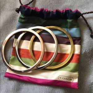 Set of 3 Coach bangles